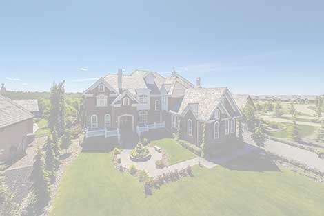 Real estate aerial photo of a large brick house
