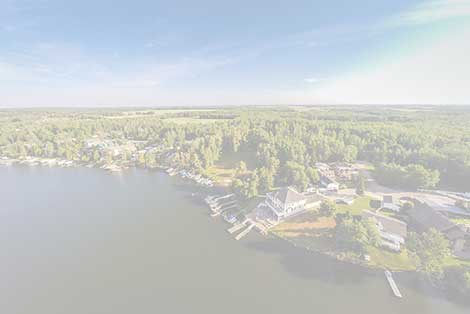 Real estate aerial photo of a beautiful lakefront property