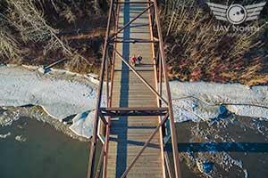 Downtown Edmonton Aerial Maternity Photo