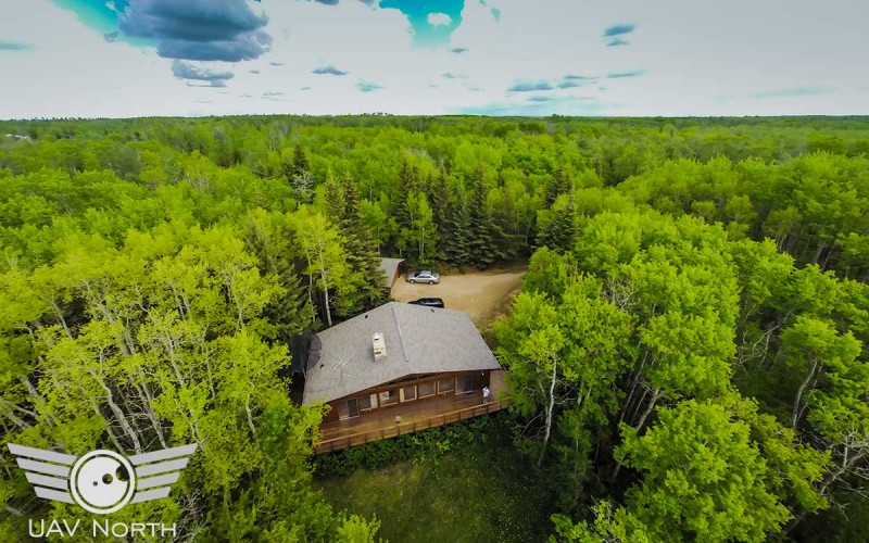 Aerial Photography of a Secluded Real Estate Listing