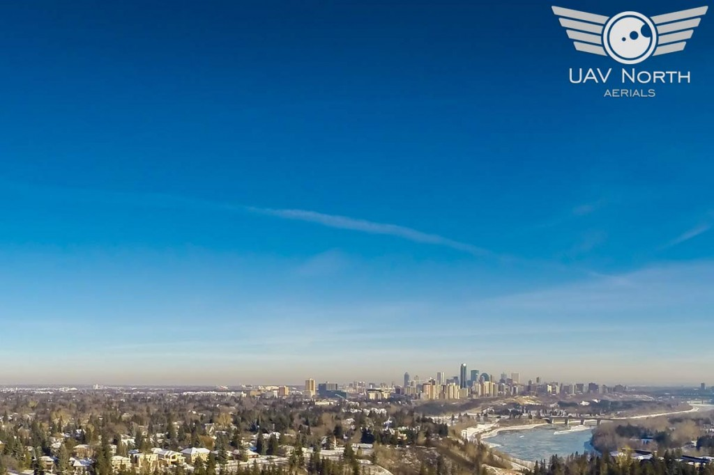 Downtown Edmonton Skyline Aerial Photo