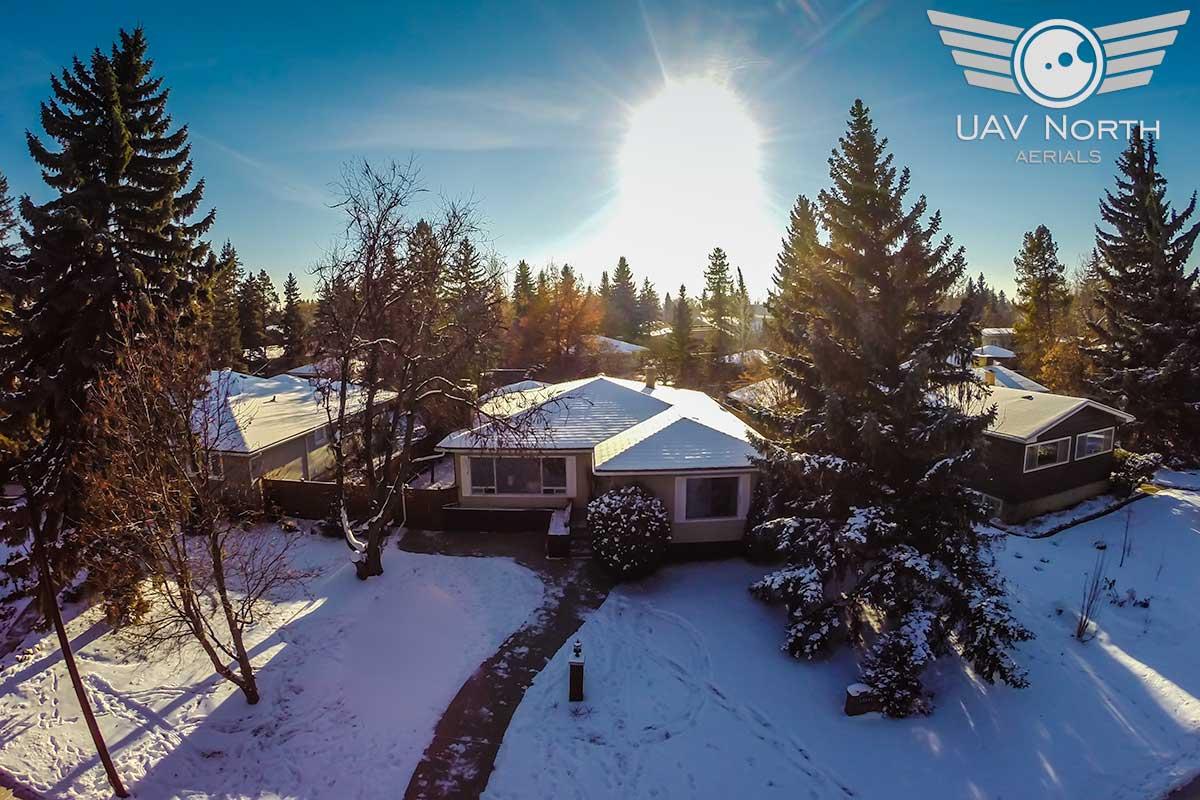 Edmonton Summit Drive Real Estate Aerial Photo