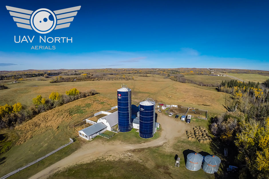 Farm Aerial Photo Of Silos