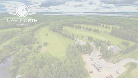 Golf course aerial photo