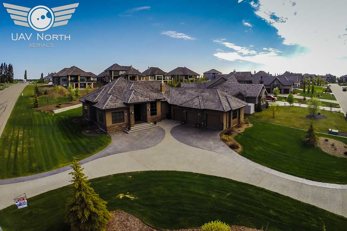 Aerial photo of a St. Albert real estate listing