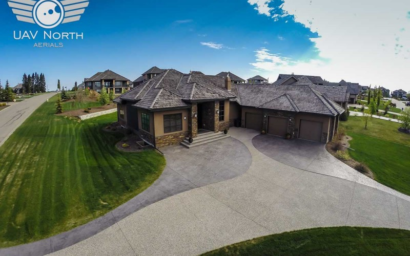 Aerial Photos of a St. Albert Remax Real Estate Listing