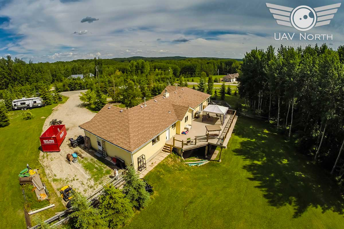 Stony Plain Acreage Aerial Photo