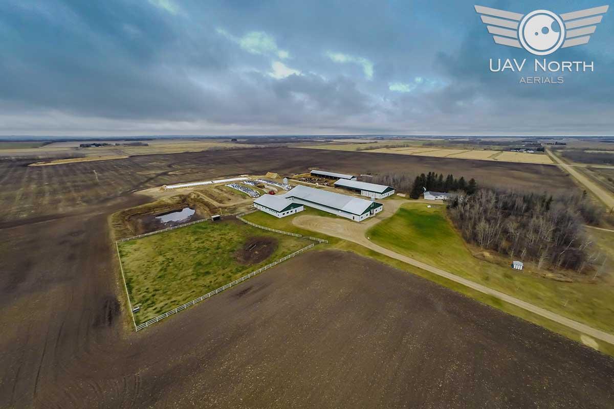 Alberta farm aerial photo