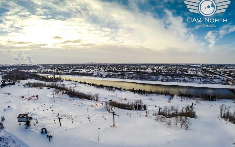 Sunridge Ski Area Aerial Video