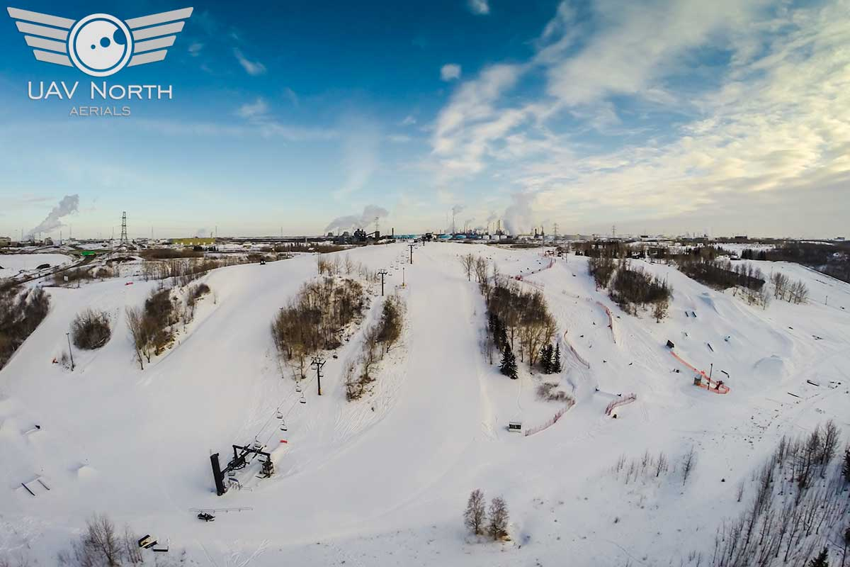 Sunridge Ski Area Aerial Photo & Video