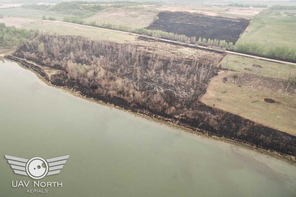 Alberta Fire Damage Aerial Inspection