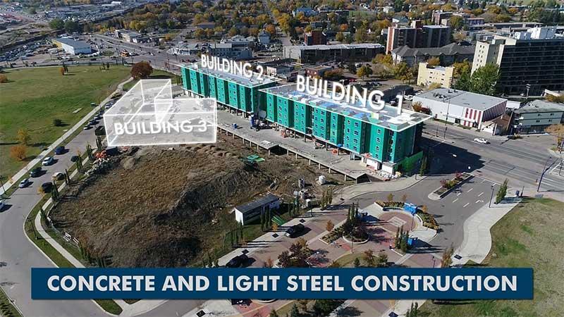 Station Pointe Village - Edmonton Aerial Video