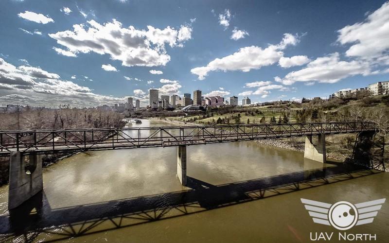 The North Saskatchewan River leading to Downtown Edmonton