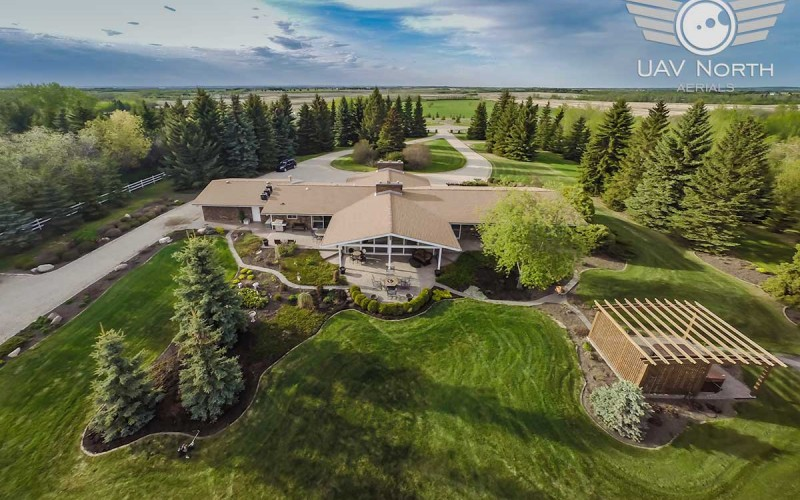 Aerial Photos of a Rural Property East of Edmonton