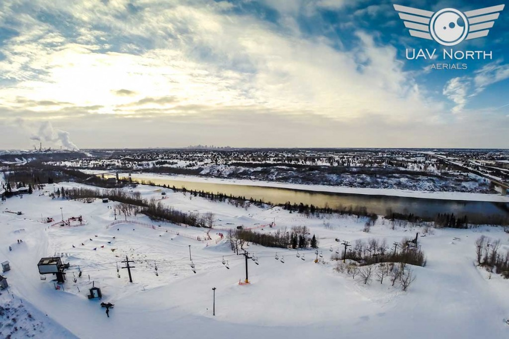 Sunridge Ski Area Aerial Photo & Video