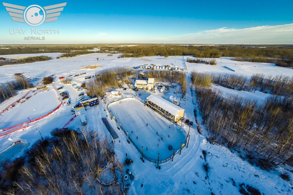 Aerial photo of the Worlds Longest Hockey Game