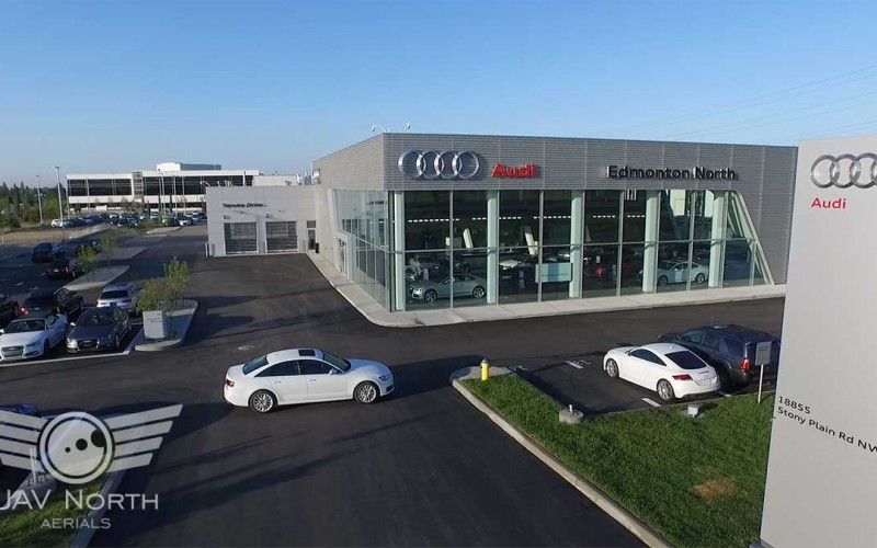 Aerial Video for Audi Edmonton North