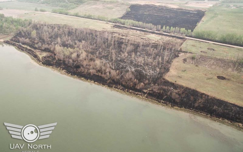 Aerial Inspection of Alberta Wildfire Damage