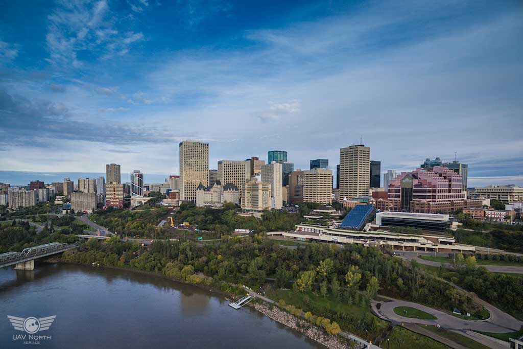 Downtown Edmonton Aerial Photo
