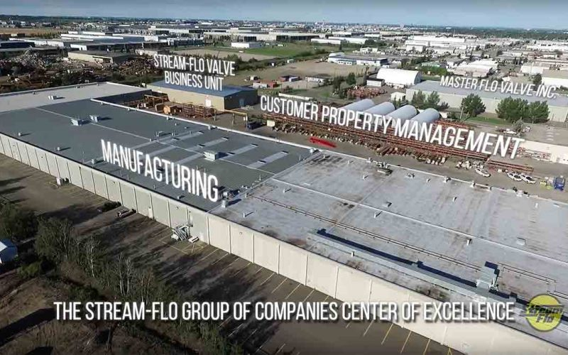 Commercial Aerial Video Inside and Outside a Factory