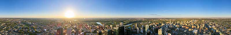 Aerial panorama shot right over downtown Edmonton!