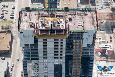 Stantec Tower Construction Progress Drone Photo