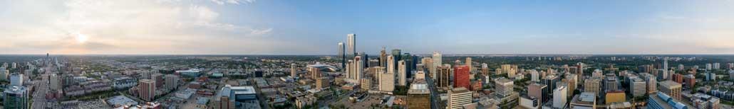 Edmonton Aerial Panorama - Park View